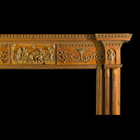 Georgian Antique Wood Fireplace Mantel | Westland Antiques