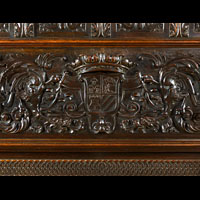 Oak Italian Renaissance Fireplace Mantel | Westland Antiques