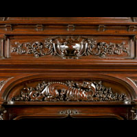 Renaissance Walnut Wood Trumeau Fireplace | Westland