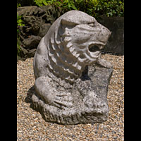 Carved Marble Garden Lion Couchant | Westland London