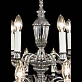 Set of two Nickel Plated Brass Chandeliers | Westland London