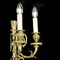 Rams Heads Brass Three Branch Wall Lights | Westland London