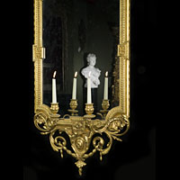 Antique Girandole Mirror Carved Putti Rococo | Westland London