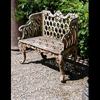 Small Cast Iron Rococo Garden Seat | Westland London