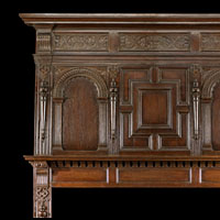 Jacobean Carved Oak English Fireplace | Westland Antiques