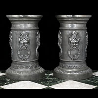 Large Cast Iron Grotesque Greek Urn Stands | Westland London