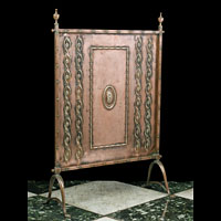 Arts And Crafts Copper Antique Fire Guard | Westland London