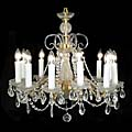 Twelve Branch Cut Glass Chandelier | Westland London