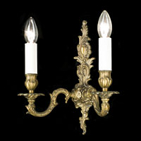 Pair French Brass Rococo Wall Lights | Westland London