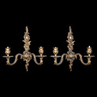 Rococo French Brass Wall Lights | Westland London