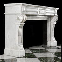 White Marble Louis XVI Antique Fireplace | Westland London