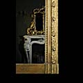French Antique Overmantel Mirror Gilt Gesso | Westland London