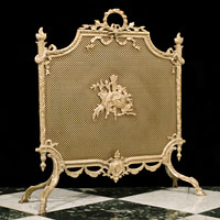 20th Century French Brass Fire Screen | Westland London