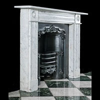 Carrara Marble Victorian Fireplace Mantel | Westland London.