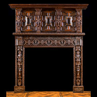 Tudor Jacobean Caryatid Oak Fireplace | Westland Antiques