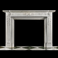 Louis XVI Carrara Marble Antique Fireplace | Westland London