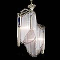Art Nouveau Nickel Ceiling Light | Westland London