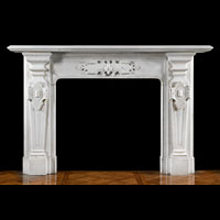 Statuary Marble Antique Victorian Fireplace  | Westland London