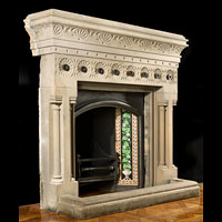 Large Victorian Stone Fireplace Mantel | Westland Antiques