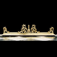 Rococo Brass Dragon Fireplace Fender | Westland London