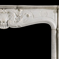 Louis XV White Marble Fireplace Mantel | Westland Antiques