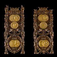 Gillow brass display panels.