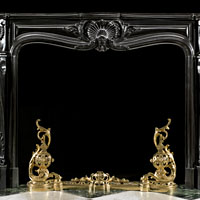 French Louis XV Black Marble Antique Fireplace | Westland London