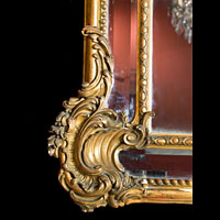 Large Ornate French Giltwood Gesso Mirror | Westland London