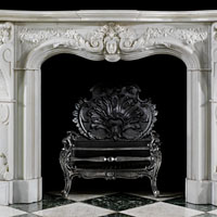 Rococo Statuary Marble Fireplace Mantel | Westland Antiques