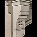 Large Gothic Antique Stone Fireplace | Westland London