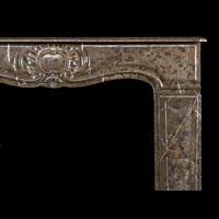 Brown Marble French Rococo Fireplace | Westland Antiques