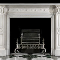 Victorian Statuary Marble Fireplace Mantel | Westland Antiques