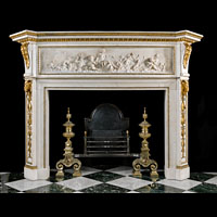 Brook House Marble Ormolu Antique Fireplace | Westland London