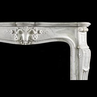Rococo Carrara Marble Fireplace Mantel | Westland Antiques