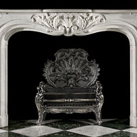 Rococo Statuary Marble Fireplace Mantel | Westland London