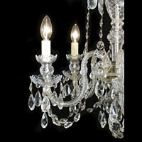 Cut Glass Five Branch Chandelier | Westland London