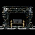 Grand Portoro Marble Baroque Antique Fireplace | Westland London
