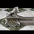 French Cast Iron Boar Antique Fireplace Fender | Westland London