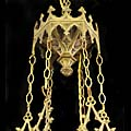 Gothic Revival Brass Antique Chandelier | Westland London