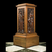 Arts & Crafts Oak Pedestal | Westland London