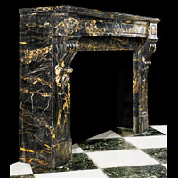 French Portoro Marble Fireplace Mantel | Westland Antiques.