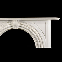 Arched White Marble Victorian Fireplace | Westland Antiques