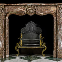 Red Marble French Rococo Fireplace | Westland Antiques
