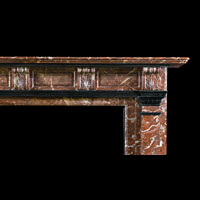 Red Marble Antique Victorian Fireplace | Westland London