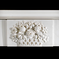 Victorian White Marble Corbel Fireplace | Westland Antiques