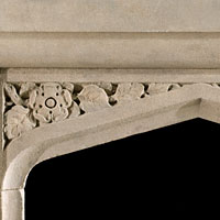 Victorian Stone Tudor Style Fireplace Mantel | Westland Antiques