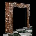Louis XV Rouge Royal Marble Fireplace | Westland Antiques
