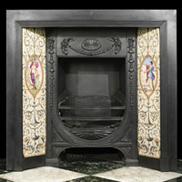 A Victorian Minton Tiled Fireplace Insert | Westland Antiques