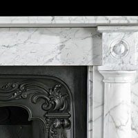 Regency White Veined Marble Antique Fireplace | Westland London