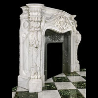 Rococo Baroque Antique Marble Fireplace | Westland London